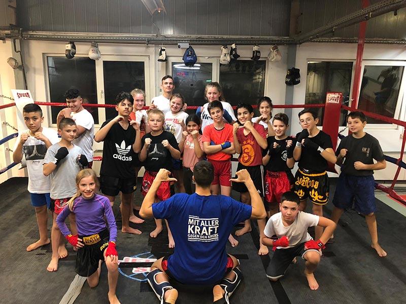 Unsere Kids- und Jugendgruppe nach dem Training